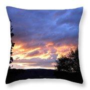 Sunset Over Kalamalka Throw Pillow