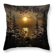 Sunrise Over Lake Huron Throw Pillow