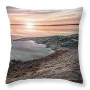 Sunset Over Lake Vanern, Sweden Throw Pillow