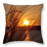 Sunset Over Lake Wylie Sc Throw Pillow