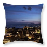Sunset Over Lausanne   Throw Pillow