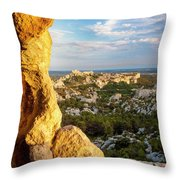 Sunset Over Les Baux Throw Pillow