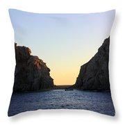 Sunset Over Lovers Beach Throw Pillow