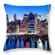 Magic Manhattan Throw Pillow