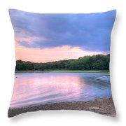 Sunset Over Monk's Park Throw Pillow