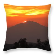 Sunset Over Mt. Woodson Throw Pillow