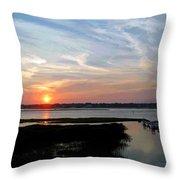 Sunset Over Murrells Inlet II Throw Pillow