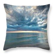 Sunset Over Naples Beach Throw Pillow