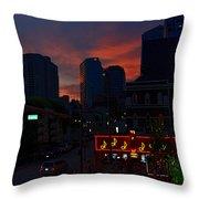 Sunset Over Nashville Throw Pillow