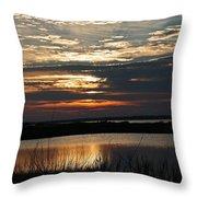 Sunset Over Navarre Throw Pillow