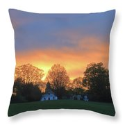 Sunset Over North Common Meadow Throw Pillow