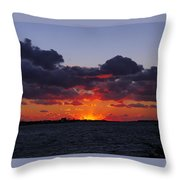 Sunset Over North Meadow Island Throw Pillow