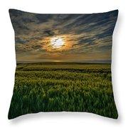 Sunset Over North Pas De Calais In France Throw Pillow