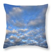 Sunset Over Omaha Nebraska Throw Pillow