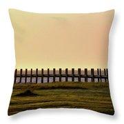 Sunset Over Pamlico Sound Throw Pillow