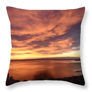 Sunset Over Portofino Throw Pillow