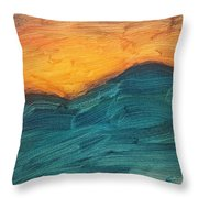 Sunset Over Rendezvous  Throw Pillow