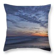 Sunset Over Rye New Hampshire Coastline Throw Pillow