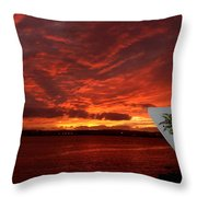 Sunset Over San Diego Throw Pillow
