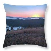 Sunset Over San Juan Islands Throw Pillow