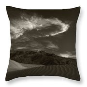 Sunset Over Sand Dunes Death Valley Throw Pillow