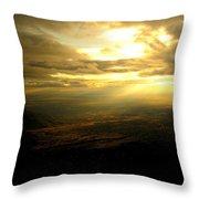 Sunset Over Sandia Mountain Throw Pillow
