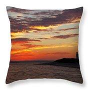Sunset Over Sandy Neck Lighthouse Throw Pillow