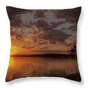 Sunset Over Shark River Throw Pillow