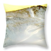 Sunset Over Snow Dune In Cape Cod Throw Pillow