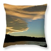 Sunset Over South Island Of New Zealand Throw Pillow