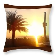 Sunset Over St Augustine Florida Throw Pillow