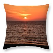 Sunset Over St. Ives Bay Throw Pillow
