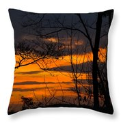 sunset over Suwanee 2010 Throw Pillow
