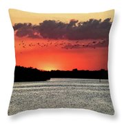 Sunset Over Tampa Bay 2 Throw Pillow