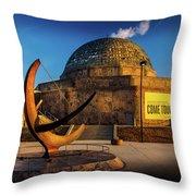 Sunset Over The Adler Planetarium Chicago Throw Pillow