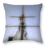 Sunset Over The Amistad Throw Pillow