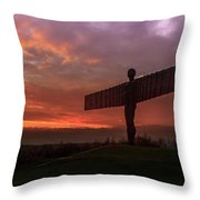 Sunset Over The Angel.  Throw Pillow