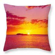 Sunset Over The, Atlantic Ocean, Cat Throw Pillow