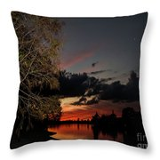 Sunset Over The Caloosahatchee Throw Pillow