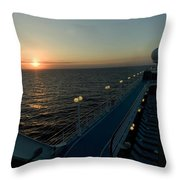 Sunset Over The Caribbean Sea As Seen Throw Pillow