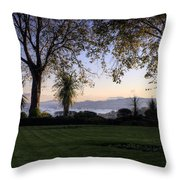 Sunset Over The Firth Of Forth From Inverkeithing Throw Pillow