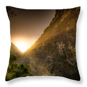 Sunset Over The Gorge Throw Pillow
