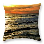 Sunset Over The Gulf Throw Pillow