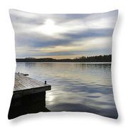 Sunset Over The Lake. Throw Pillow