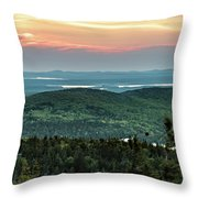 Sunset Over The Lakes Throw Pillow