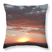 Sunset Over The Mara Throw Pillow