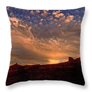 Sunset Over The Moab Rim 2 Throw Pillow