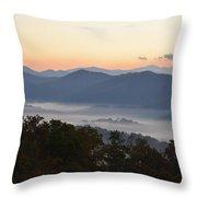 Sunset Over The Mountaintops Throw Pillow