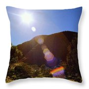 Sunset Over The Olgas Throw Pillow