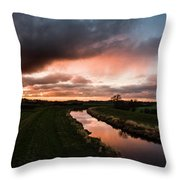 Sunset Over The River Wyre Throw Pillow